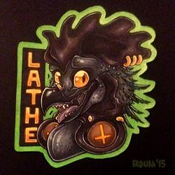 Lathe Head Badge