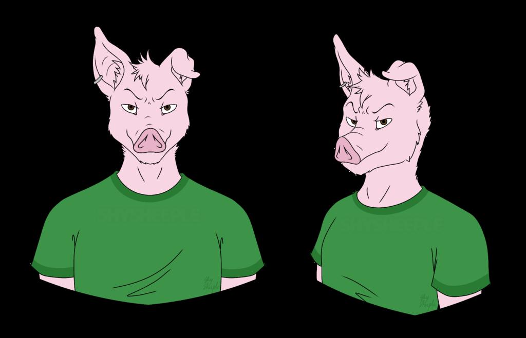 Most recent image: Pig commission