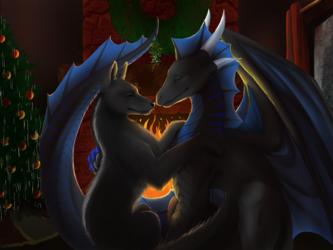 A kiss on christmas eve
