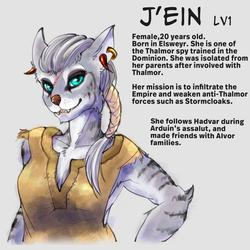 J'ein: Lv1 (Khajiit protag for Skyrim)