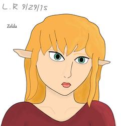 Zelda sketch - Edited shading