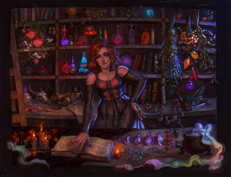 Soda and potion shop
