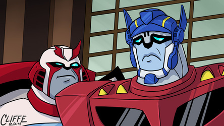 Re-Draw: TF:A Ratchet and Optimus