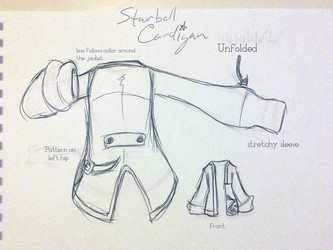 StarBell Cardigan detail