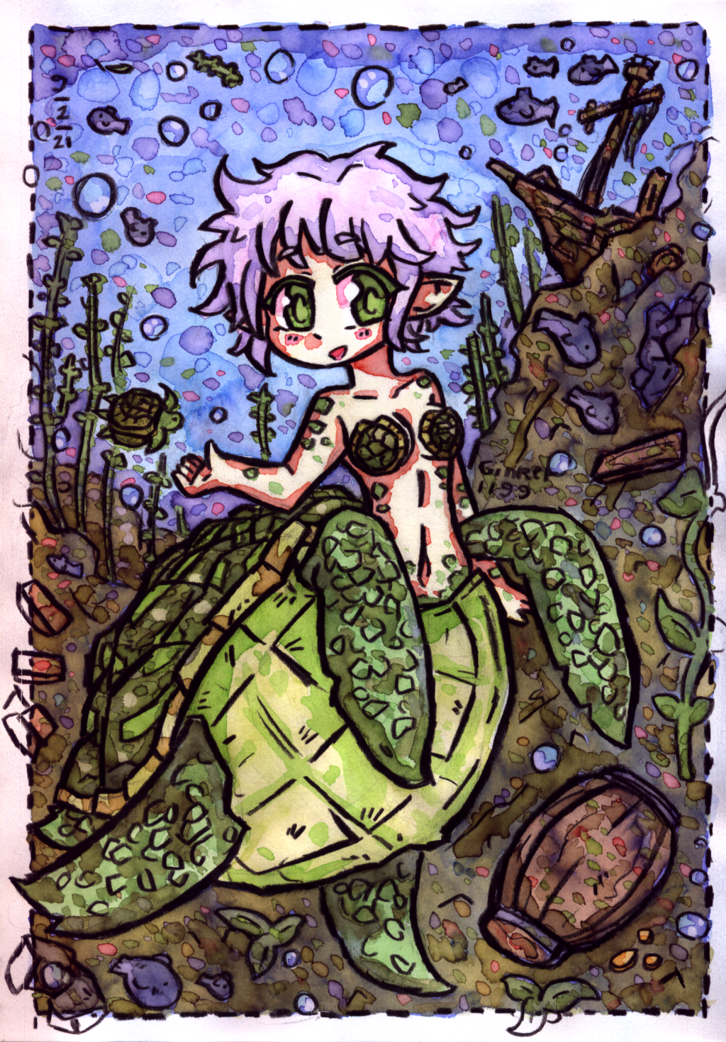 Most recent image: [BP Reflections] Akiko the merturtle~