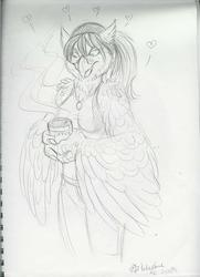 Melody with coffee