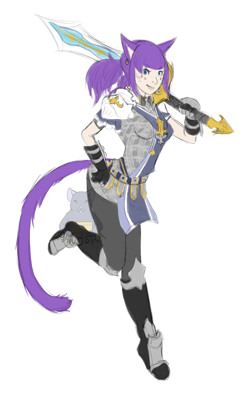 FFXIV Character Sketch
