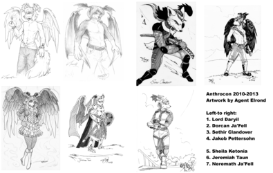 Anthrocon commissions from Agent Elrond 2010-2013