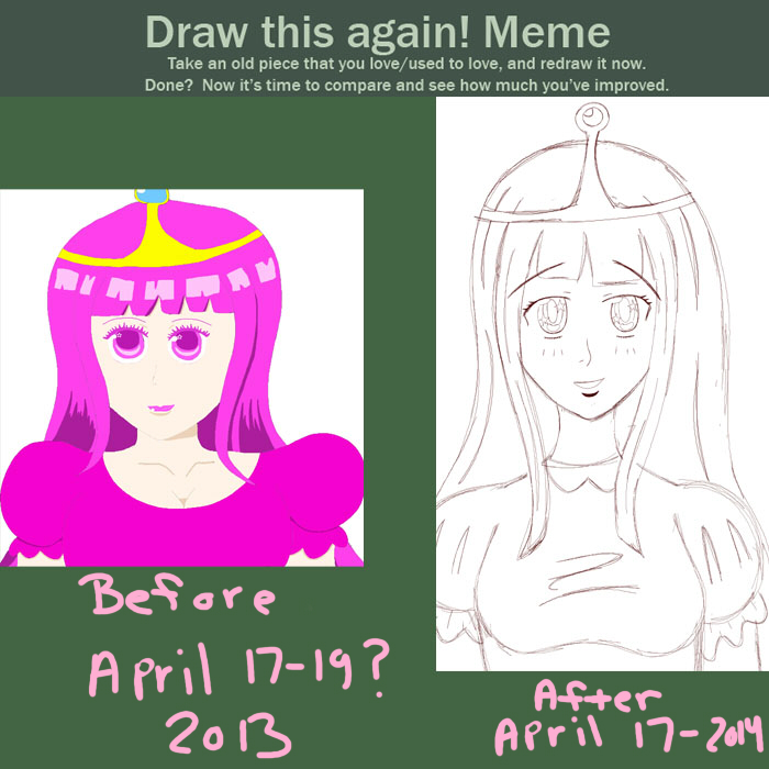 Meme || Before and After || Princess Bubblegum