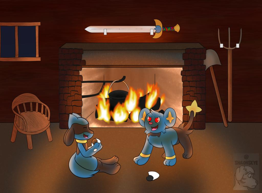 Friends by the Fireside