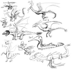 Solar Dragons Sketch