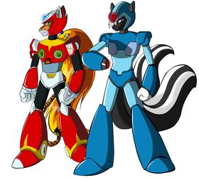 Megaman X & Zero Cosplay by MasterZero
