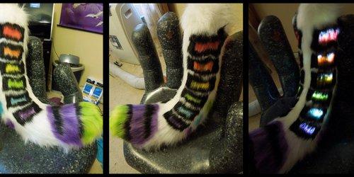 .:toxikooncreations Rainbow LED tail:trade:.