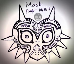 "Inktober 2017 - Day 31 ""Mask"""