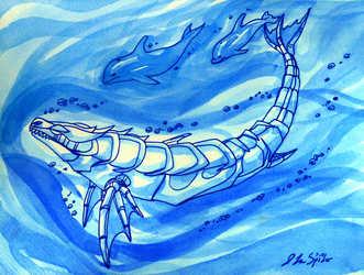 Inktober--Interplanetary Swim Meet