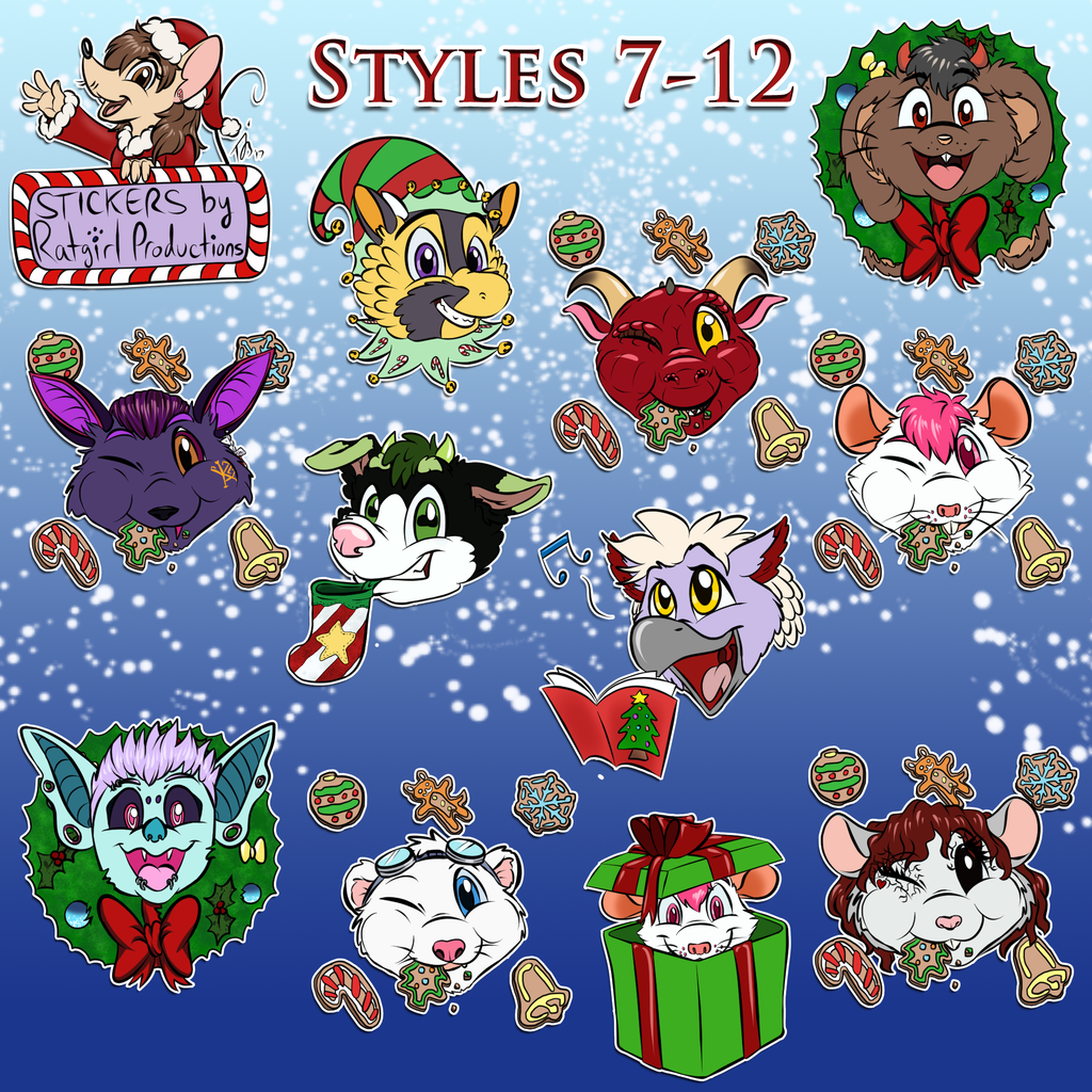 Ratgirl's XMAS Sticker Pack 2017 - Second Half