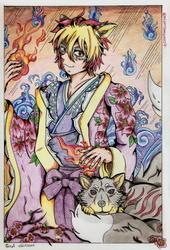 Katsuki wearing a kimono ...