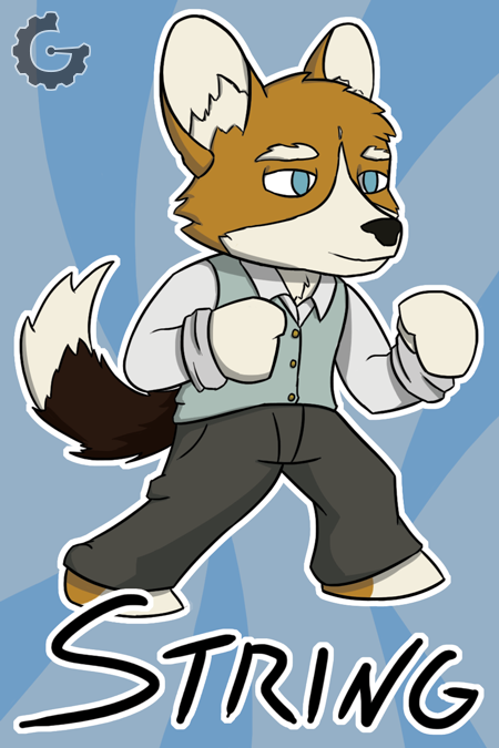 (Badge) Chibi Fighting String