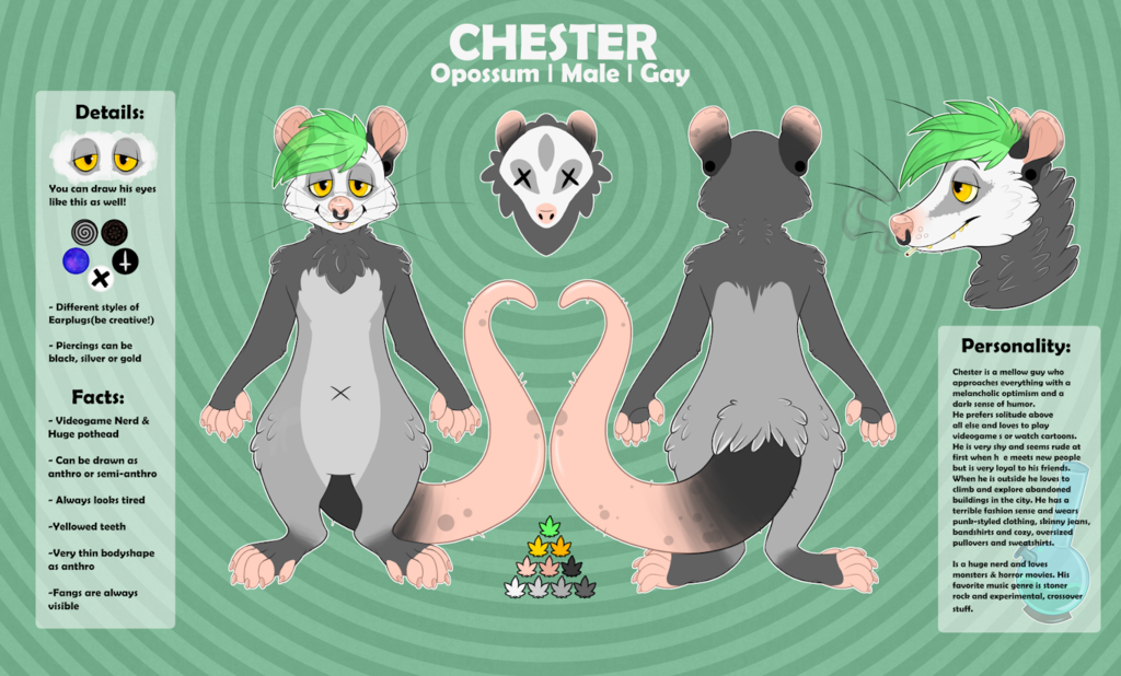 Chesters New Look & Charsheet