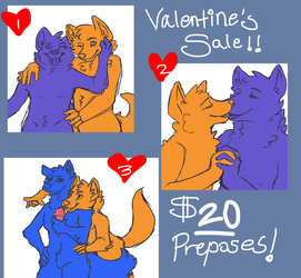 valentine's prepose sale $5 off