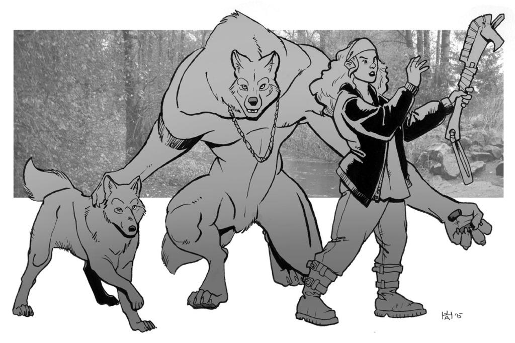 June draw a werewolf