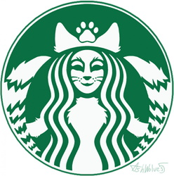 Kitsune Coffee Sticker Art