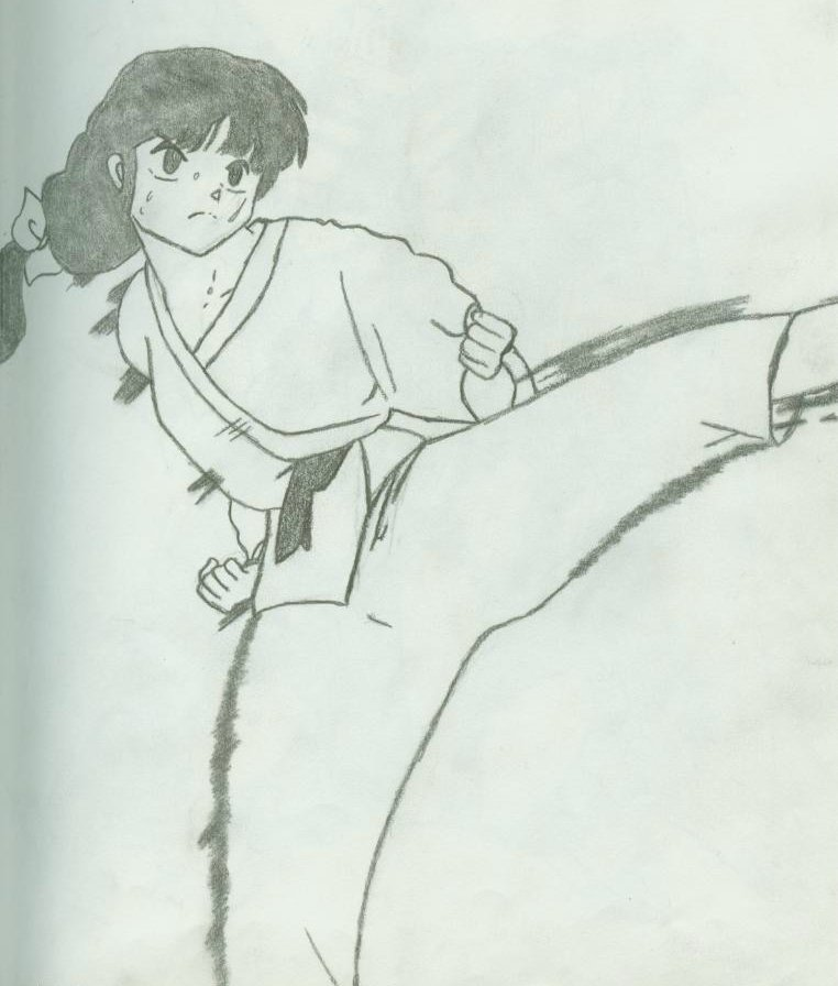 Akane Tendo Practising Her Art