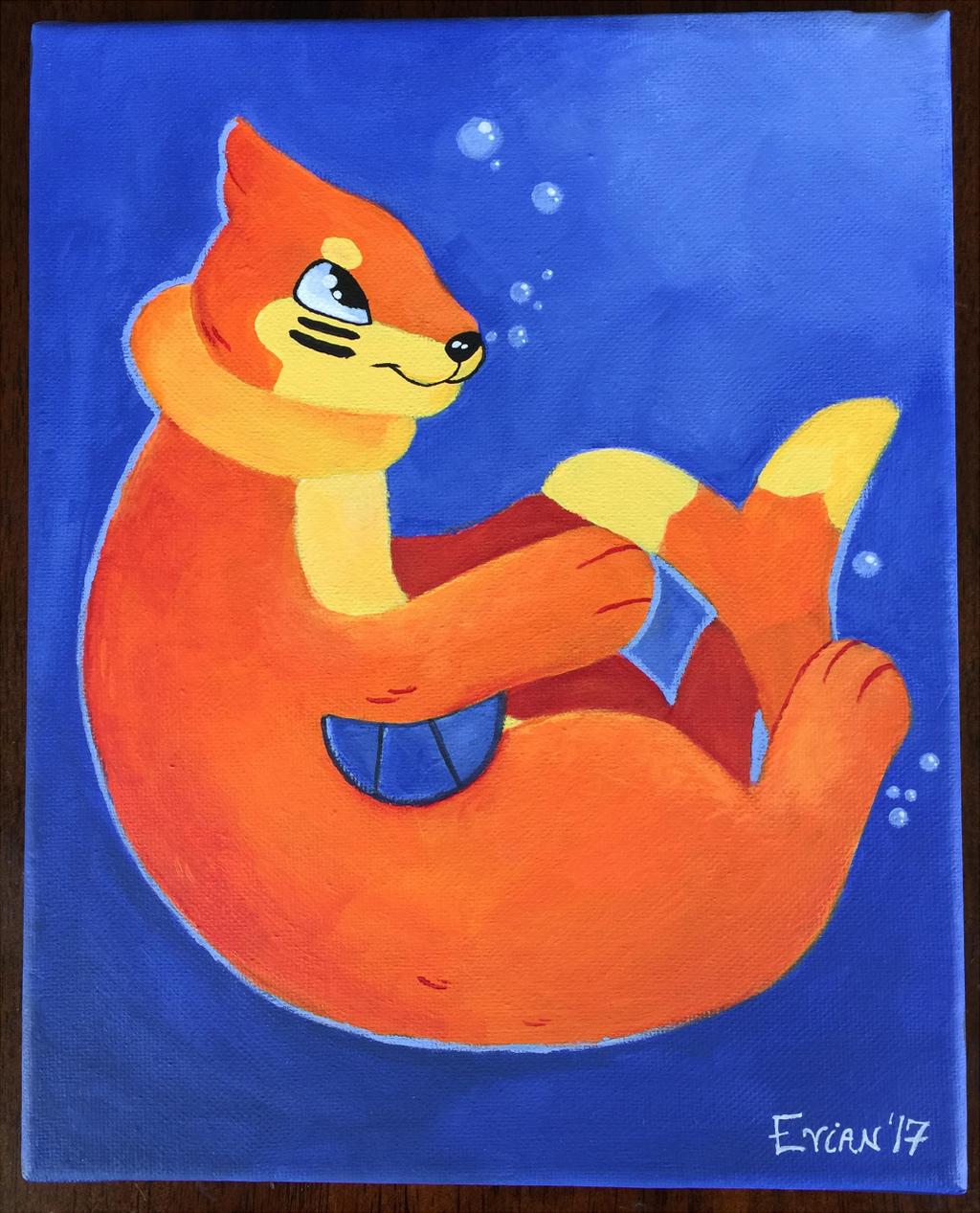 Buizel Painting (April)