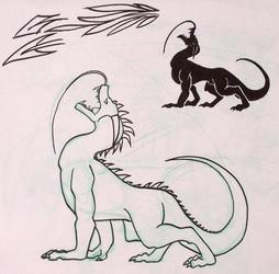 Dragon Roaring, silhouete