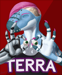 COMM: Terra Eyes Out Badge