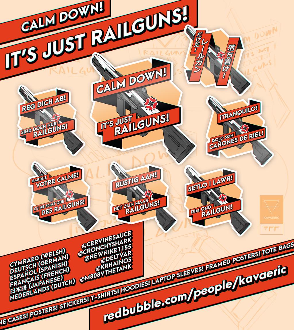 It's just railguns! apparel/merch!