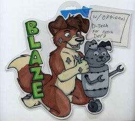 mechanic blaze badge by tarah