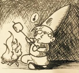 Sticky little sqish blob roasting