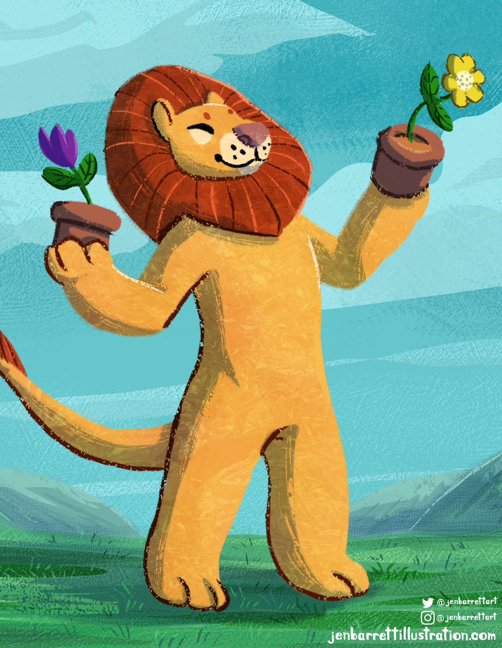 :P: Happy Flower Lion