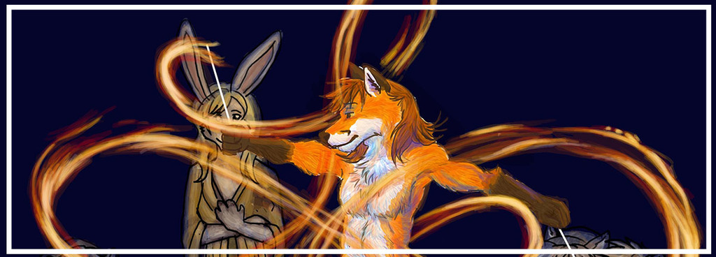 Most recent image: Fox Boi With Flaming Poi 02: Cropped