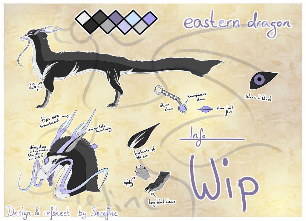 Commission - Custom eastern dragon