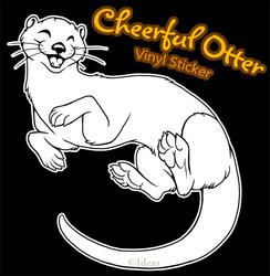 Cheerful Otter Vinyl Sticker