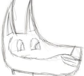 Soft Tocuhed Canine Sketch