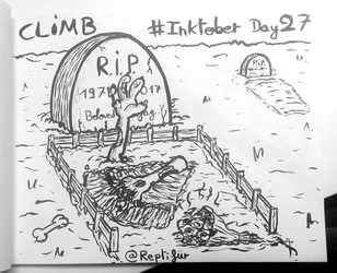 Inktober Day 27 : CLIMB