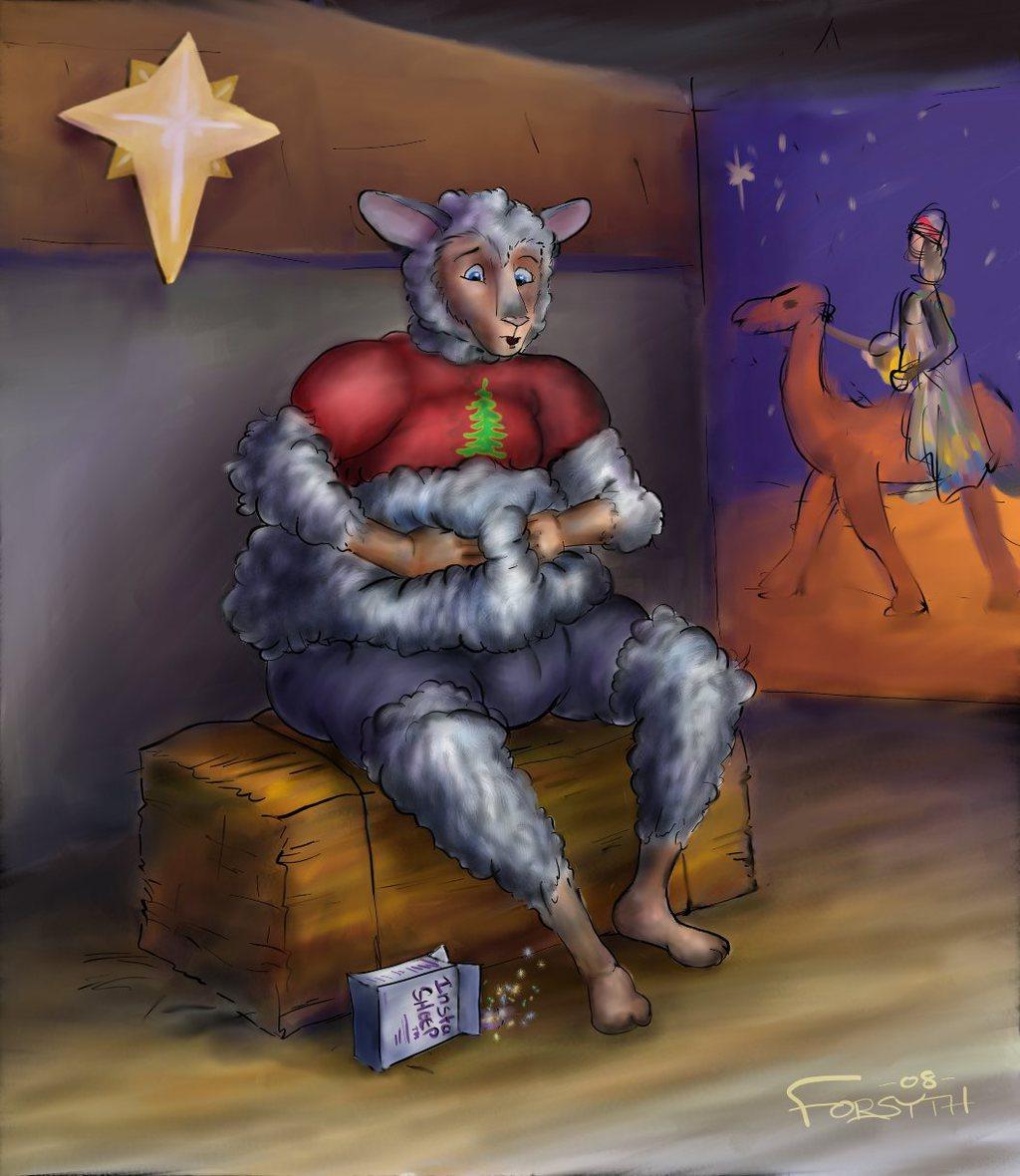 Nativity Sheep Dress Rehearsal