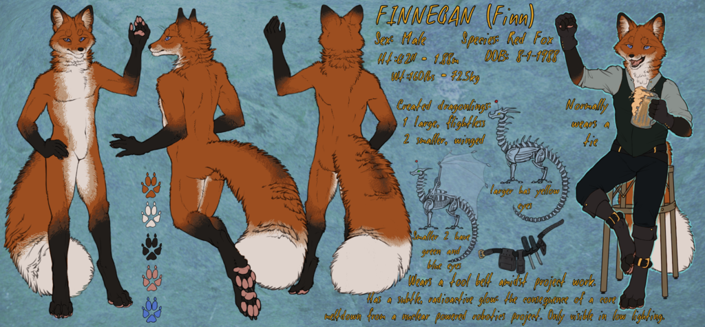 Most recent image: Finn's new and improved ref sheet