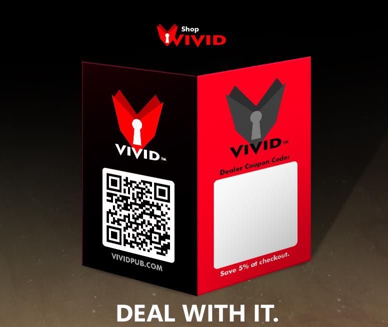 Vivid Dealer business card design