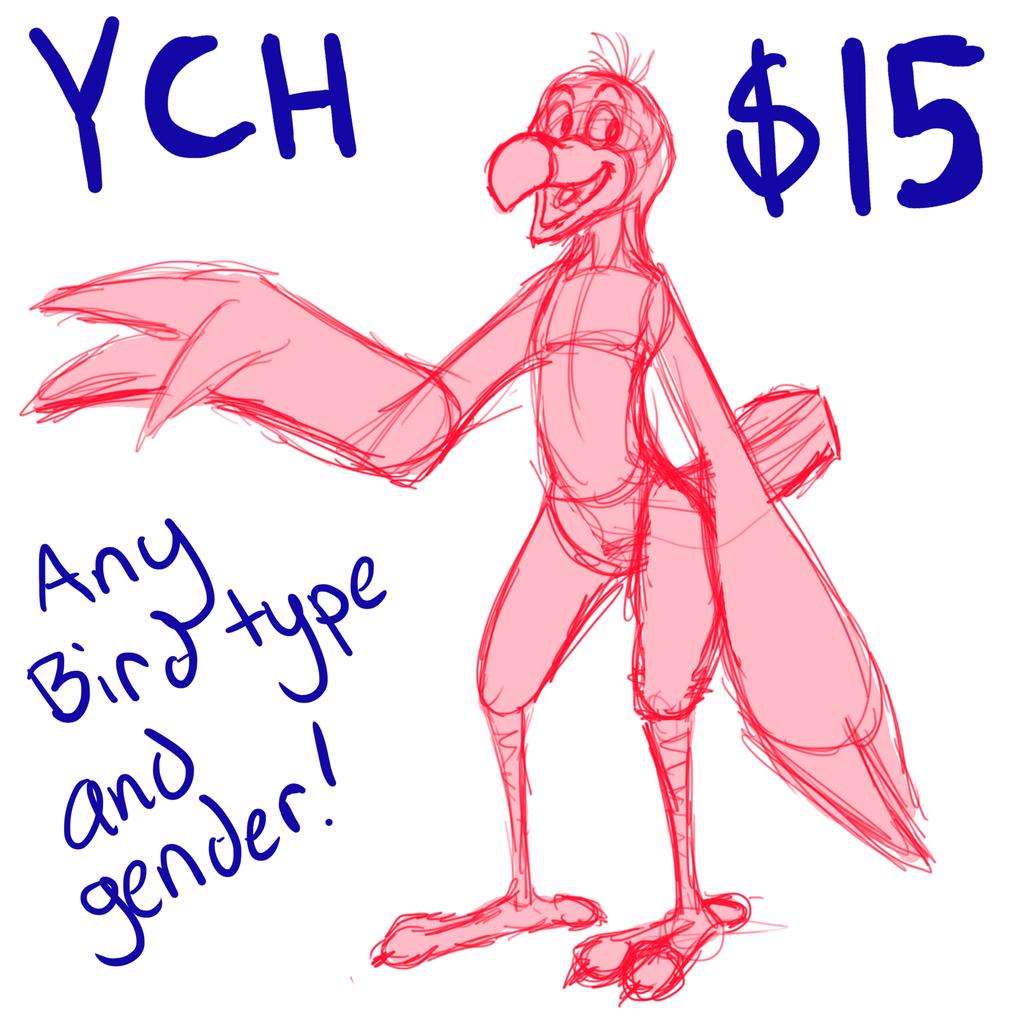 $15 Avian YCH - any bird/gender