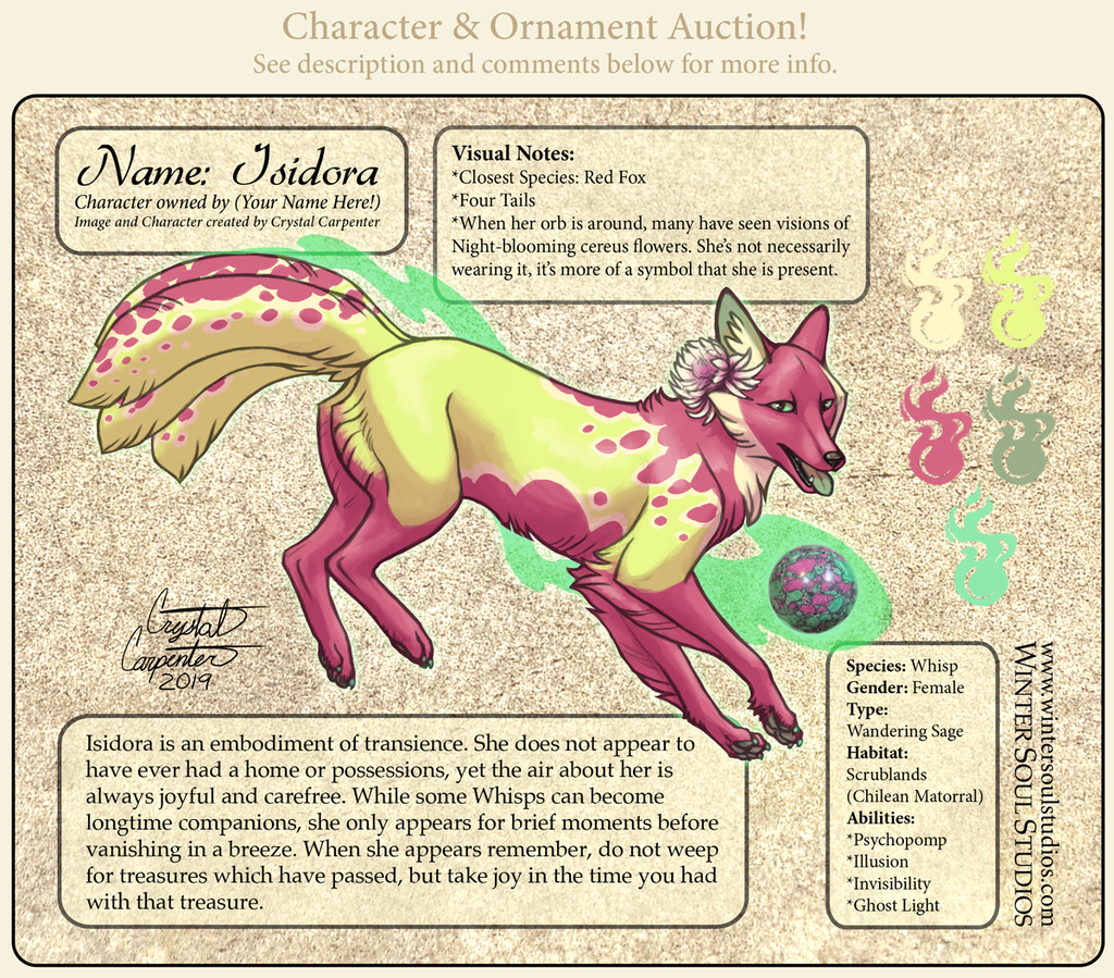 Character Auction - Isidora
