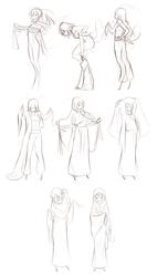 Shattered: Ha'azaet Clothes (sketch)
