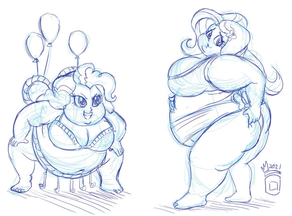 COMM: Pinkie Pie vs. Fluttershy Sumos