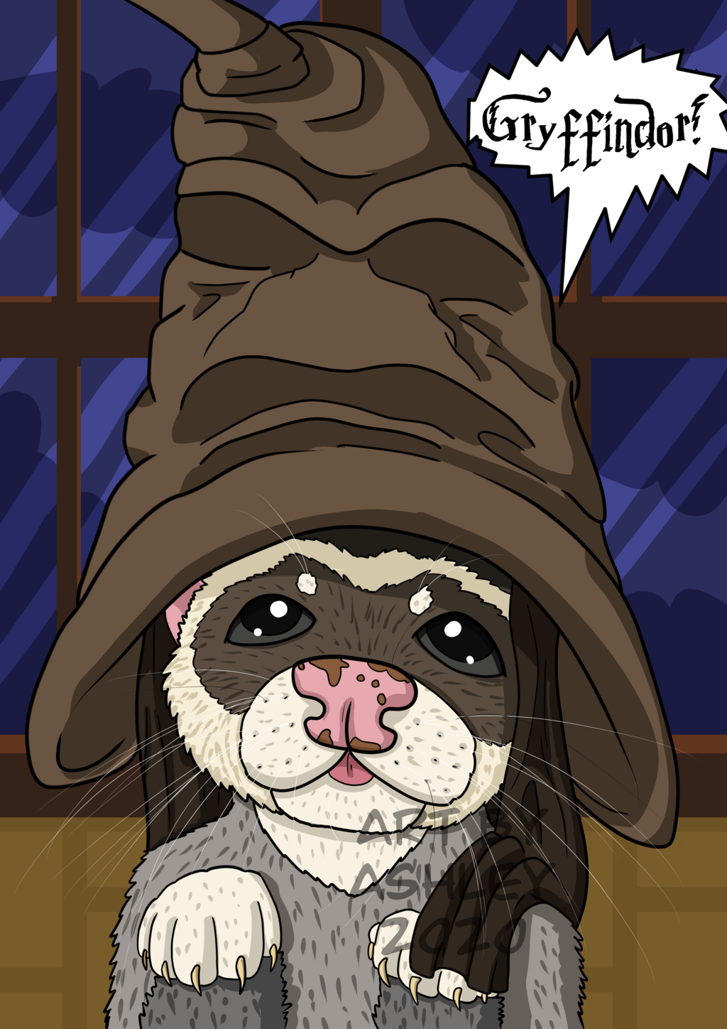 Ferret in the Sorting Hat