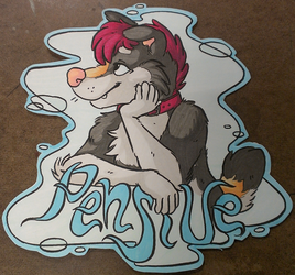 Pensive Bust Badge