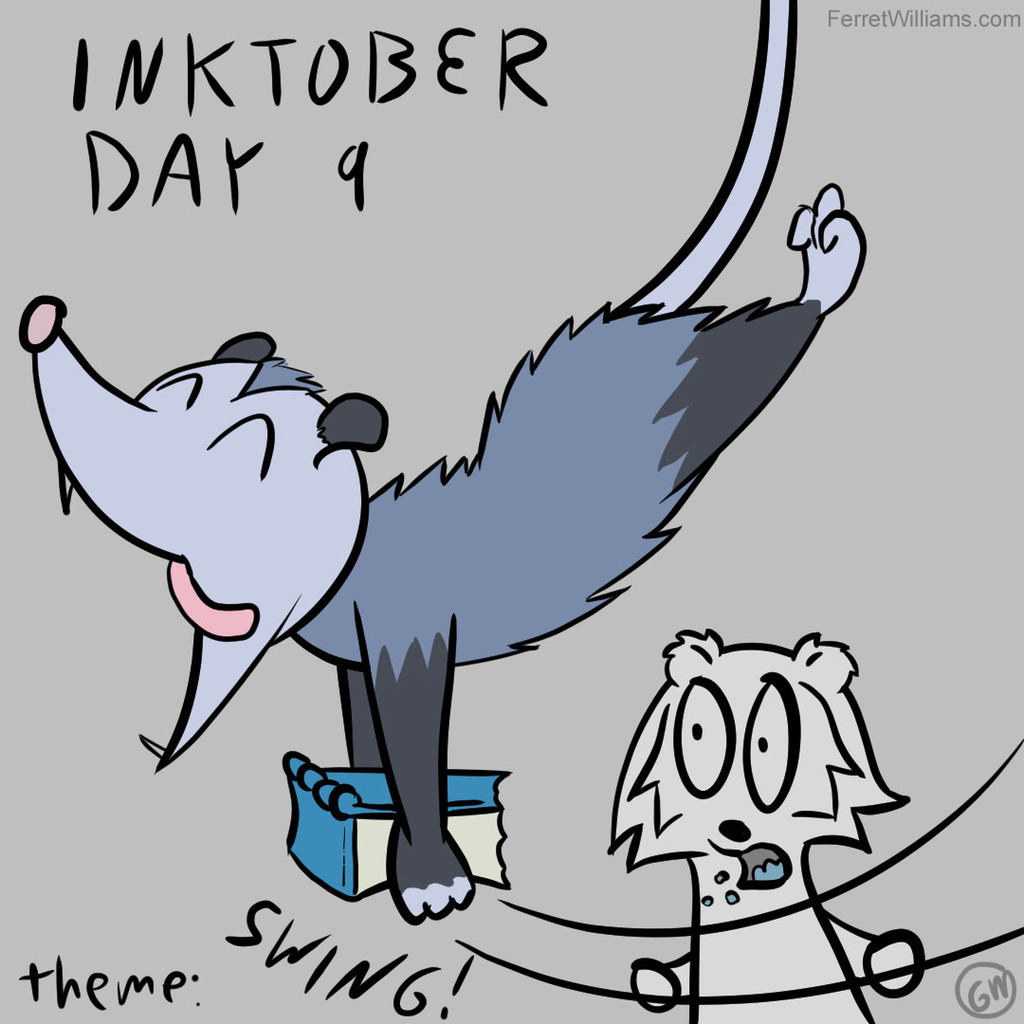 "Inktober Day 9: ""Swing"""