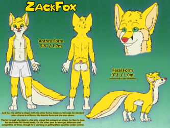 [COMM] ZackFox Reference Sheet - by ImperfectFlame & Me